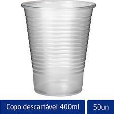 Copo Descartável Transparente Altacoppo 400ml 50un