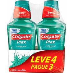 Enxaguante Bucal Colgate Plax Fresh Mint 250ml Leve 4 Pague 3