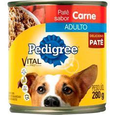 Patê para Cães Adultos Sabor Carne Pedigree Lata 280g