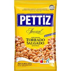 Amendoim Salgado sem Pele Pettiz Dori 1,010Kg