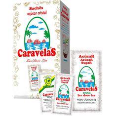 Açúcar Refinado Granulado Caravelas Sachê 400X5g