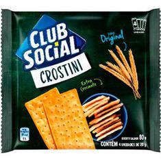 Biscoito Salgado Crostini Original Club Social 80g