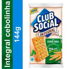 Biscoito Salgado Integral Sabor Salsa e Cebolinha Club Social 144g