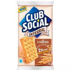 Biscoito Salgado Integral 5 Cereais Club Social 144g