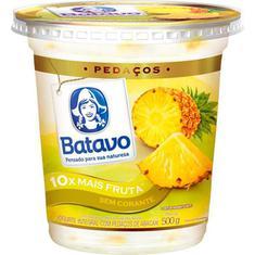 Iogurte com Pedaços de Abacaxi Batavo 500g