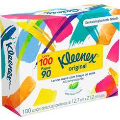 Lenço de Papel Kleenex Leve 100 Pague 90 unidades