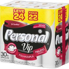 Papel Higiênico Vip Personal Leve 24 Pague 22un 30m