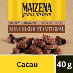 Mini Biscoito Integral Sabor Cacau Maizena 40g