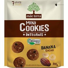 Mini Cookies Integral Sabor Banana e Cacau Mãe Terra 120g