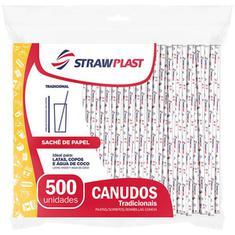 Canudo Tradicional com Sachê de Papel  5mm Strawplast 500un