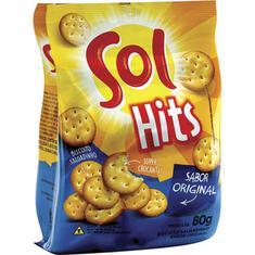 Biscoito Salgado sabor Original Hits Sol 80g
