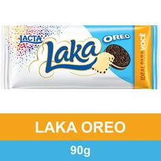 Chocolate Branco Laka com Oreo Lacta 90g