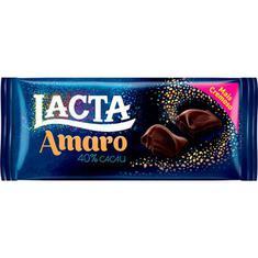 Chocolate 40% Cacau Amaro Lacta 90g