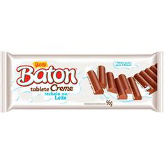 Chocolate Baton Tablete Creme Recheio ao Leite Garoto 96g