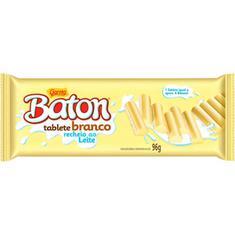 Chocolate Baton Tablete Branco Recheio ao Leite Garoto 96g