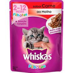 Alimento para Gatos Filhotes Sabor Carne Whiskas Junior 85g