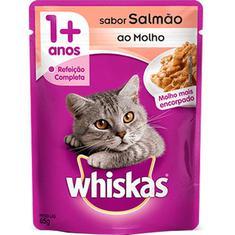 Alimento para Gatos Sabor Salmão Whiskas 85g