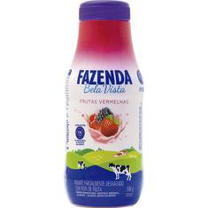Iogurte Líquido Sabor Frutas Vermelhas Fazenda Bela Vista 500g