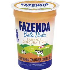 Iogurte Integral com Mel Cenoura e Laranja Fazenda Bela Vista 170g