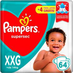Fraldas Pampers Supersec Jumbo XXG 64 Unidades