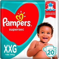 Fralda Supersec Pacotão Pampers XXG 20un