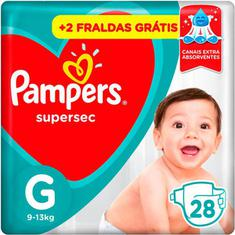 Fraldas Pampers Supersec G 28 Unidades