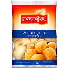 Pão de Queijo Coquetel Massa Leve 1kg