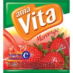 Refresco em Pó Sabor Morango AmaVita 35g