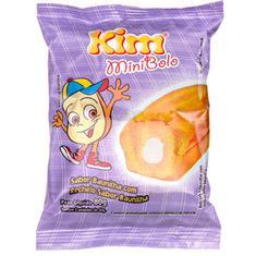 Mini Bolo Baunilha com Baunilha Kim 80g