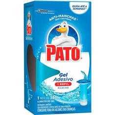 Desodorizador Sanitário Gel Adesivo Refil Marine Pato 6 unidades