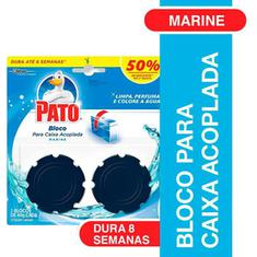 Desodorizador Pato Bloco para Caixa Acoplada Marine 2 unidades 40g Cada