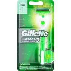 Aparelho de Barbear Acqua Mach3 Sensitive Gillette 1un.