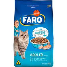 Alimento para Gatos Adultos Mix de Peixes e Vegetais Faro 3kg