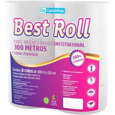 Papel Higiênico Folha Simples Best Roll 300m 8un.