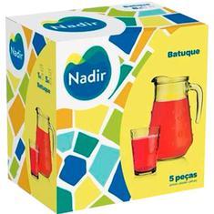 Conjunto Jarra com Copos Batuque Nadir 5un.