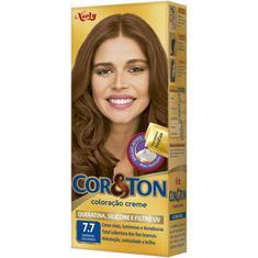 Tintura Mini Kit Cor&Ton Marrom Dourado 7.7