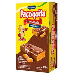 Paçoquita com Cobertura de Chocolate Santa Helena 24x18g