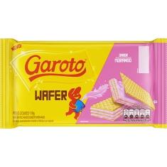 Biscoito Wafer Sabor Morango Garoto 110g