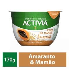 Leite Fermentado Amaranto e Mamão Café da Manhã Activia 170g