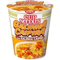 Macarrão Instantâneo Sabor Galinha Caipira Cup Noodles Nissin 69g