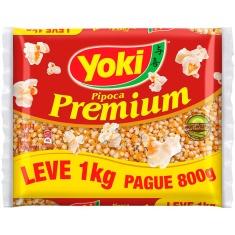 Milho Para Pipoca Premium Yoki Leve 1kg Pague 800g