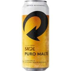 Cerveja Puro Malte Lata Skol 473ml