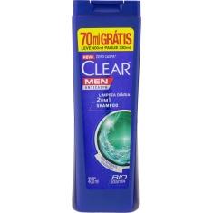 Shampoo Clear Anti-Caspa Limpeza Diária 2 Em 1 Leve 400ml Pague 330ml