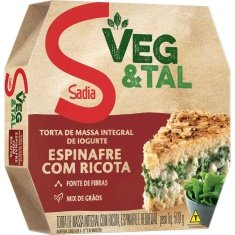 Torta Integral Espinafre com Ricota Sadia 500g