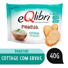 Snack Sabor Cottage com Ervas Panetini Equilibri 40g