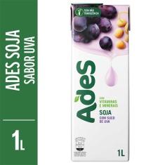 Bebida de Soja Sabor Uva Ades 1L