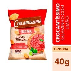 Salgadinho Sabor Salaminho com Limão Crocantíssimo Pullman 40g