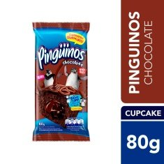 Bolinho Recheado Triplo Chocolate Pinguinos 80g