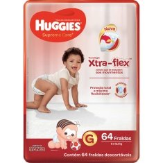 Fralda Supreme Care Hiper G 64un Huggies