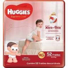 Fralda Supreme Care Hiper XG 52un Huggies